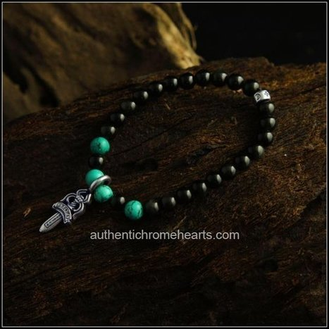 Black Chrome Hearts Bead Bracelet With 925 Silver Obsidian Sword [Chrome Hearts Bracelets] - $227.00 : Authentic Chrome Hearts | Chrome Hearts Online | Boutique | Scoop.it