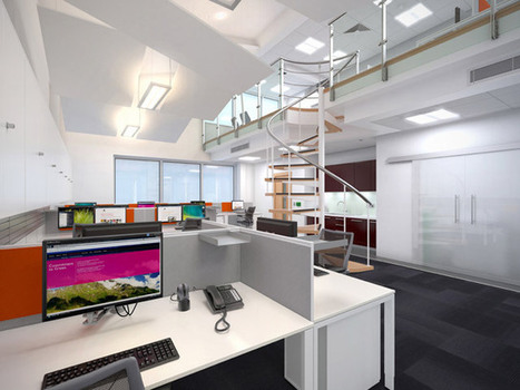 Office Interior 3D Visual for Westwoodnine | Technology & 3D Visuals | Scoop.it