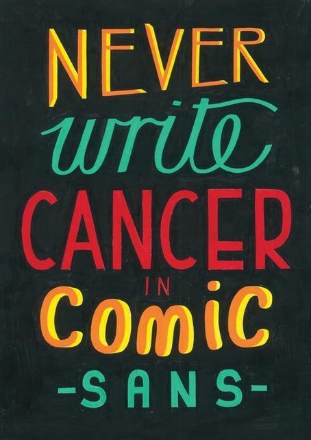Designers use Comic Sans to fight cancer | Creative Bloq [too funny says 1 Big C Survivor] | Personal Branding Using Scoopit | Scoop.it