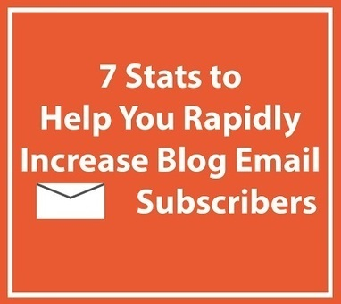 7 Stats to Help You Rapidly Increase Blog Email Subscribers | MarketingHits | Scoop.it