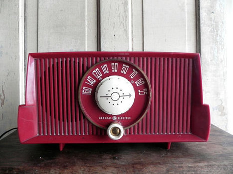 Red Radio General Electric 1950s | Antiques & Vintage Collectibles | Scoop.it