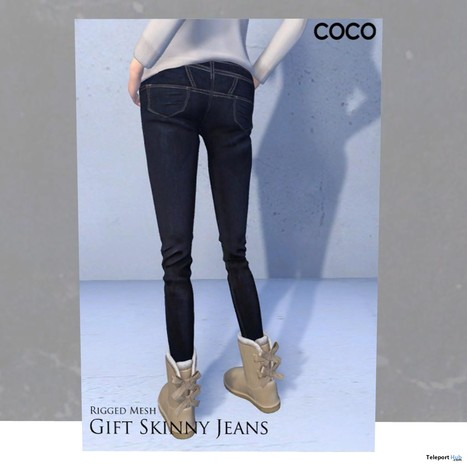 Skinny Jeans Group Gift by Coco Designs | Teleport Hub - Second Life Freebies | Second Life Freebies | Scoop.it