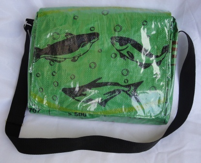 Eco Friendly Messenger Fish Green Bag | Jewelry Making & Beginning Stain Glass | Scoop.it