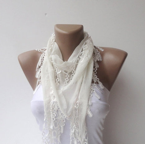 scarf , women fashion scarves , Cotton scarf ,white elegant scarf ,2013 scarf trend,for her,White lace scarf | Knit Ruffled Scarf,multicolor scarf,2013 NEW TREND SCARF,accessories,gifts for her,fashion,long scarf | Scoop.it