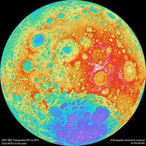 "Psychedelic topographic Moon | ""Cameras, Camcorders, Pictures, HDR, Gadgets, Films, Movies, Landscapes"" 
