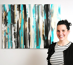 Harmony in chaos: Yellowknife Abstract painter has first solo exhibition #YZF #NWT | NWT News | Scoop.it