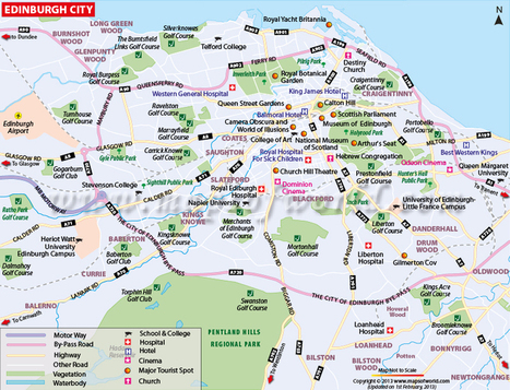 Edinburgh Map | Map of Edinburgh City | Travel Guide | Scoop.it
