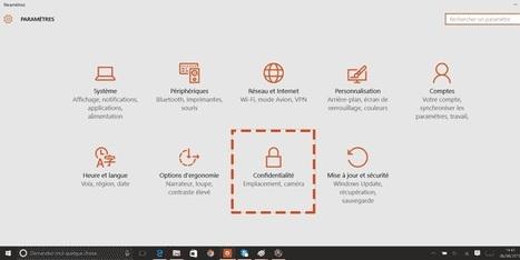 Fiche pratique de la CNIL - Régler les paramètres vie privéede Windows 10   L'informatique pour la petite entreprise   Scoop.it