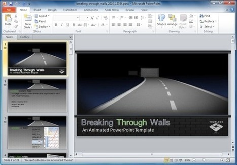 Breaking Through Walls Animated PowerPoint Template   PowerPoint Presentation   report   Scoop.it