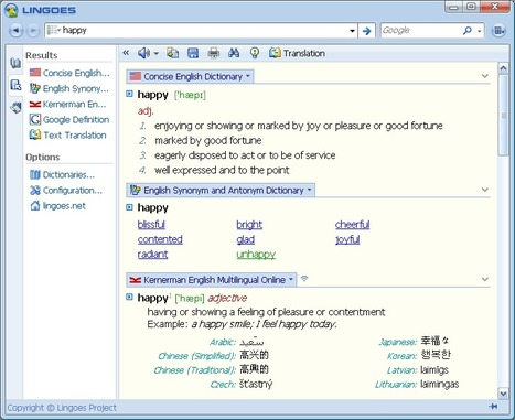 Lingoes -- free dictionary and full text translation software | TEFL & Ed Tech | Scoop.it
