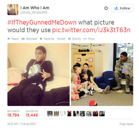 #IfTheyGunnedMeDown: African Americans challenge media stereotypes after Ferguson shooting | Micro (and Macro) aggressions in Media | Scoop.it