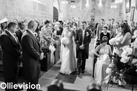 Leeds wedding photography. Wedding and marquee reception at Adel St John the Baptist Church, Leeds, Yorkshire | Ollievision | Scoop.it