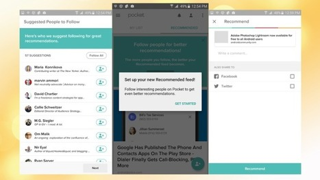 Pocket Now Lets You Follow People and Read What They're Recommending | Tools You Can Use | Scoop.it