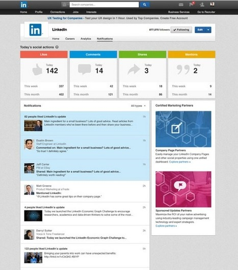 LinkedIn Adds Notification Center To Company Pages | LinkedIn Marketing Strategy | Scoop.it