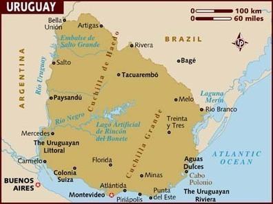 map_of_uruguay.jpg (466x350 pixels)   Uruguay, Quinton Tart   Scoop.it