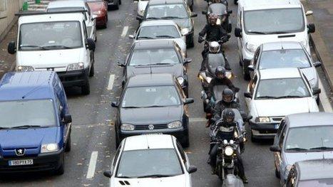 Les motards pourront circuler entre les files de voitures dans toute l'Ile-de-France - France 3 Paris Ile-de-France   On the road again...   Scoop.it
