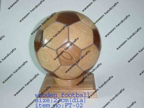 Wooden Football | Wooden Home Decoration | Scoop.it