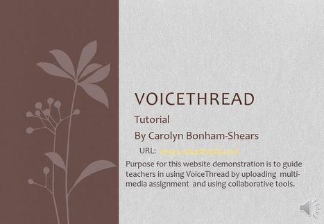 Voicethread, Step by Step | Educational technology | Scoop.it