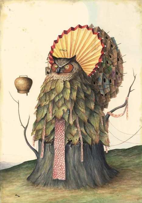 Watercolor and Pencil Paintings by El Gato Chimney | Graphisme - Illustration | Scoop.it