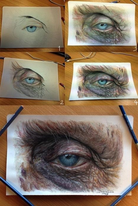 Hyperrealistic Color Pencil Drawings of Eyes - My Modern Metropolis | Le It e Amo ✪ | Scoop.it