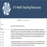 Math Teaching Resources for K-5 Classrooms #mathchat #elemchat #ccss #commoncore #ccchat | Teaching Math k-5 | Scoop.it