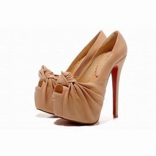 2012 Christian Louboutin 20 Years Lady Gres 160mm Leather Peep Toe Pump | my style | Scoop.it