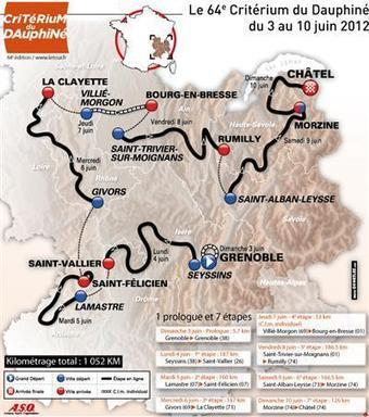Découvrez le tracé du 64e Critérium du Dauphiné | 694028 | Scoop.it