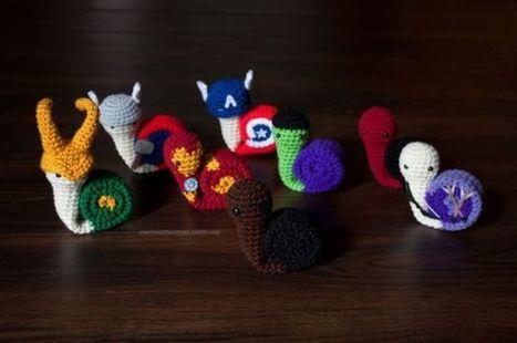 Snail Avengers Amigurumi | Geek On | Scoop.it