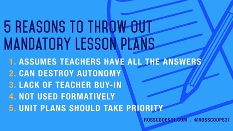 5 Reasons to Throw Out Mandatory Lesson Plans | Montessori Education | Scoop.it