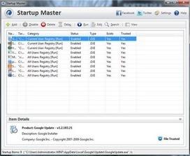 Startup Master: Gérer les programmes qui s'exécutent automatiquement sur Windows | Geeks | Scoop.it