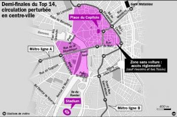 Centre-ville 100% piéton pour les demi-finales du Top 14 ce week-end | Toulouse La Ville Rose | Scoop.it