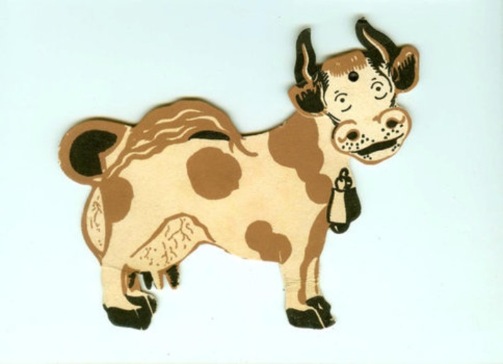 Vintage Die-Cut Mechanical Cow Card National Dairy Council Ad Twin City Unit St. Paul Minnesota 1930s | Antiques & Vintage Collectibles | Scoop.it