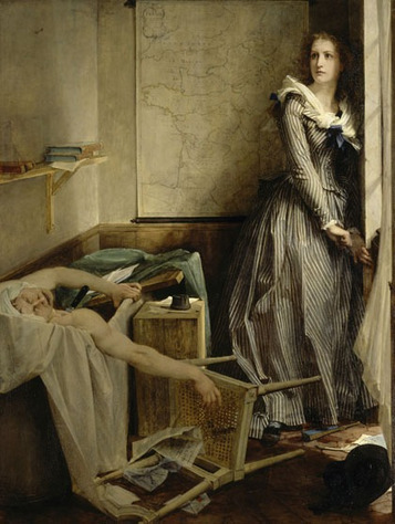 13 juillet 1793 : assassinat de Marat par Charlotte Corday | Racines de l'Art | Scoop.it