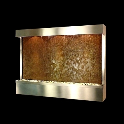 Exalted Fountains | Textured Copper Indoor Wall Fountain | The Beauty Of Indoor Wall Fountains | Scoop.it