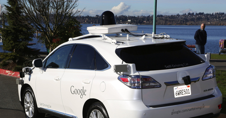 """""""Google is testing its self-driving car in Kirkland [suburb of Seattle]"""" 