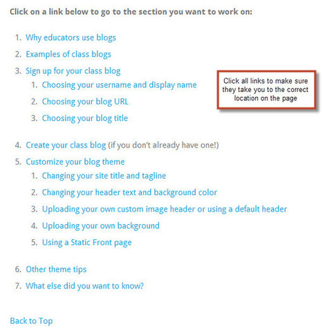 How to Add a Link to a Specific Location in a Post or Page   The Edublogger   Kindergarten   Scoop.it