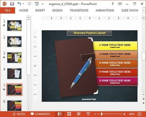 Organize Your Desk Animated PowerPoint Template | PowerPoint presentations and PPT templates | Scoop.it