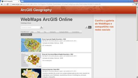 Galeria de WebMaps criados no ArcGIS Online | ArcGIS Geography | Scoop.it