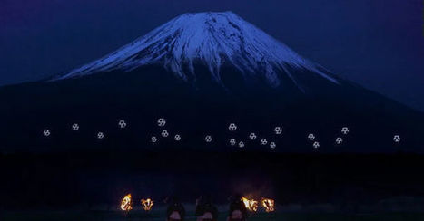Drone Ballet Turns Mount Fuji Into Cyberpunk Lightscape | Robotics | Scoop.it