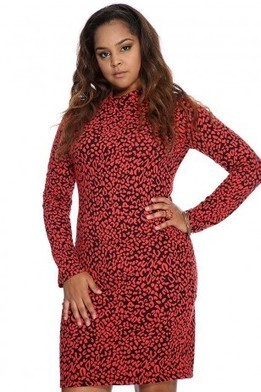 Red Orange Animal Print Sexy Plus Size Dress   The Season's Hottest Styles from Pink Basis   Scoop.it
