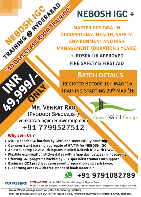 NEBOSH COURSE IN HYDERABAD | Nebosh courses | Scoop.it