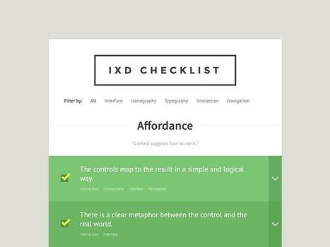 IxD Checklist | Articles et outils UX | Scoop.it