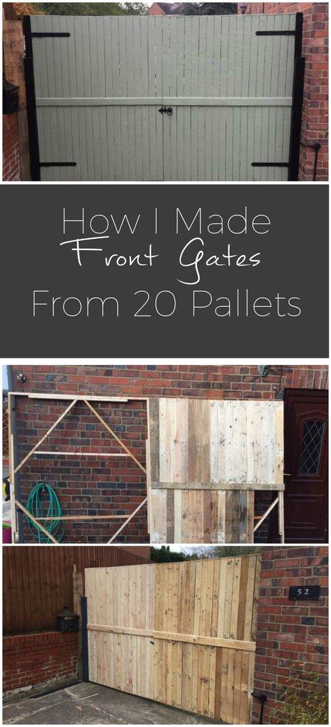 Pallet Front Gates   1001 Pallets ideas !   Scoop.it