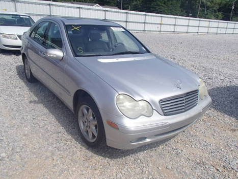 Salvage 2002 silver Mercedes-Benz C240 with VIN WDBRF61JX2F209454 on auction   cars   Scoop.it