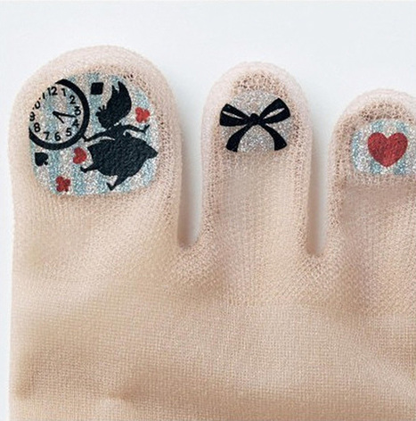 Stockings With Pre-Painted Toenails Are The Latest Craze In Japan | INTRODUCTION TO THE SOCIAL SCIENCES DIGITAL TEXTBOOK(PSYCHOLOGY-ECONOMICS-SOCIOLOGY):MIKE BUSARELLO | Scoop.it