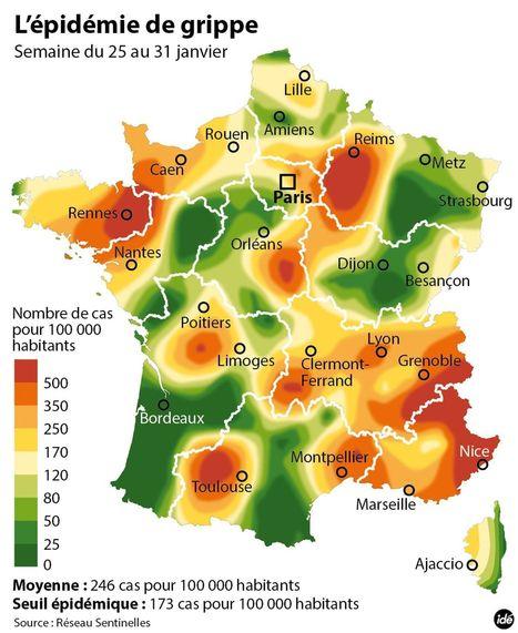 Découvrez les régions de France les plus touchées par la grippe | La sélection de BABinfo | Scoop.it