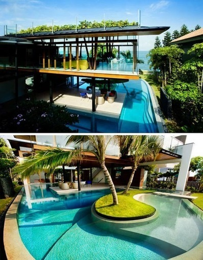 Tropical wonderful – solar beach house design with architectural ... | Beautiful Beach Houses | Scoop.it