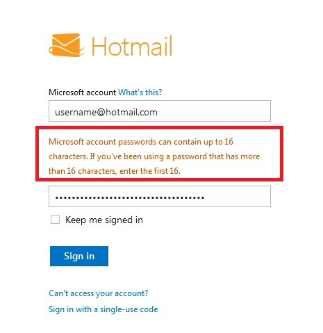 Secret Microsoft policy limited Hotmail passwords to 16 characters | Cotés' Tech | Scoop.it