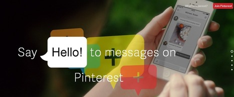 Pinterest lance son service de messagerie à partir des Pins - #Arobasenet | Pinterest et  CDI | Scoop.it