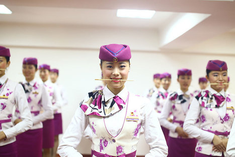 Stewardesses trained to show sweet smile   News from nowhere   Scoop.it